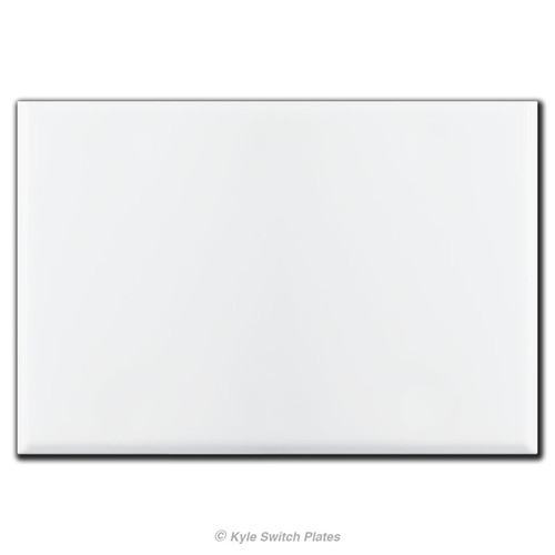 3 Gang All Blank Wall Switch Plate Covers with No Holes - White