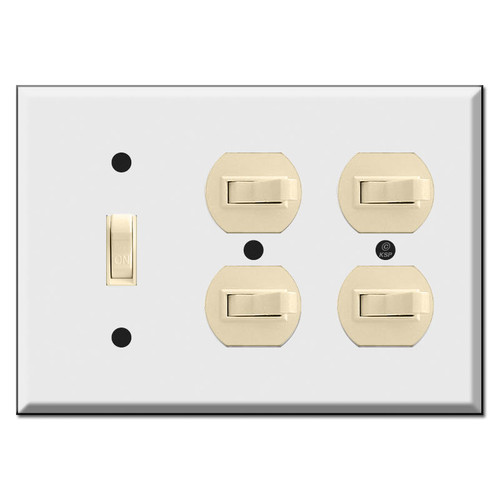 Combo Light Switch Plates for Vertical and Horizontal Toggle Switches (switches not included)