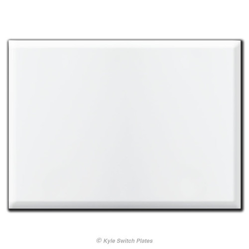 Oversized 3 Gang All Blank Wall Plate Covers with No Holes - White