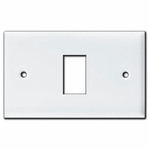 New Style Low Voltage Vintage 1 GE Switch Wall Plate - White