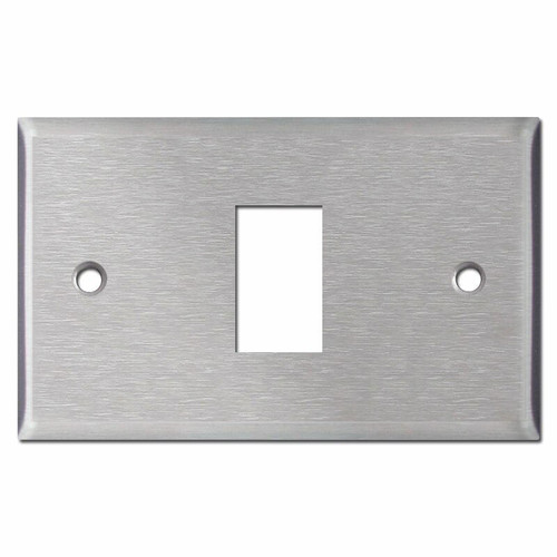 New Style 2 GE Low Voltage Light Switch Wall Plates - Stainless Steel