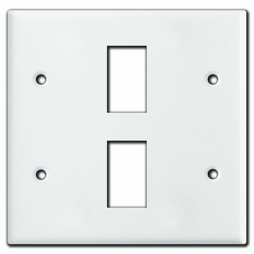 New Style 2 Gang 2 Switch Vintage GE Low Voltage Wall Plate - White
