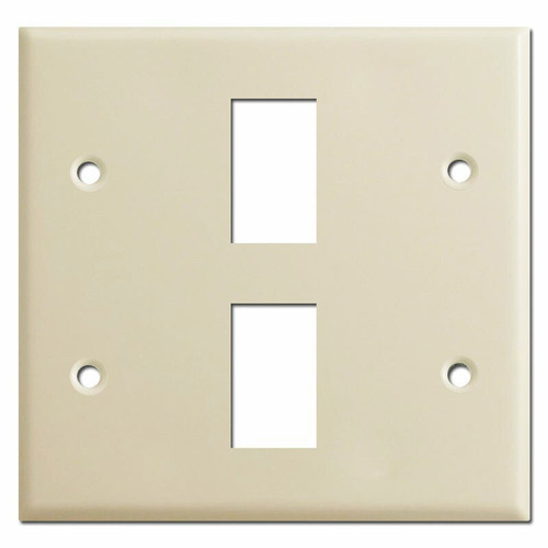 New Style 2 Gang Vintage GE Low Voltage 2 Switch Cover Plate - Ivory