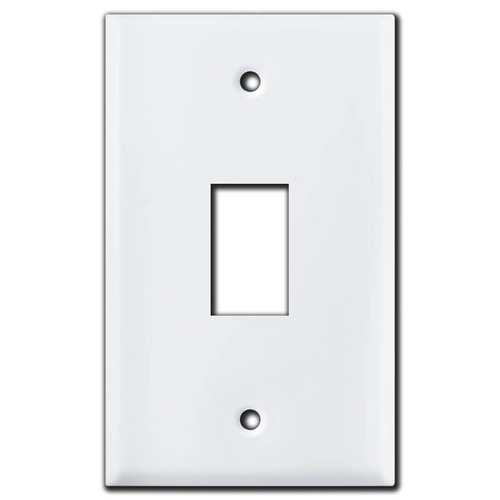 New Style 1 Vertical GE Low Voltage Light Switch Plate Covers - White
