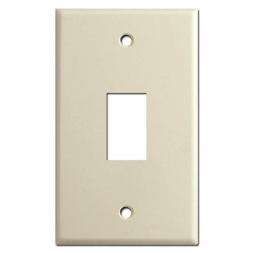 New Style 1 Vertical GE Low Voltage Lighting Switch Plates - Ivory