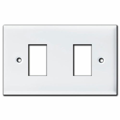 New Style 2 Switch GE Low Voltage Lighting Wall Plates - White