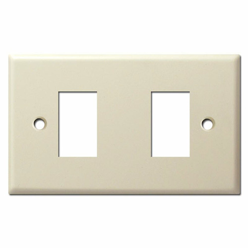 New Style Vintage 2 GE Low Voltage Switch Plate Replacements - Ivory
