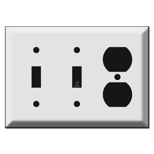Deep 2 Toggle 1 Outlet Switch Plate