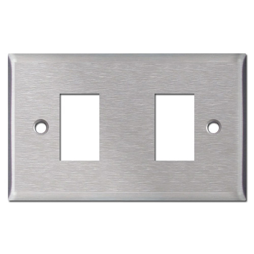 New Style Vintage 2 GE Low Voltage Light Switch Cover - Stainless