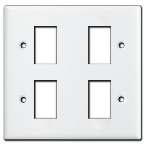 New Style 2 Gang Vintage GE Low Voltage 4 Switch Cover Plates - White