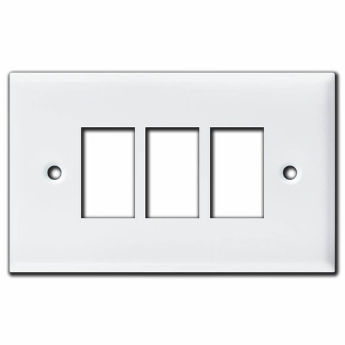 New Style Vintage Replacement 3 GE Low Voltage Switch Plates - White