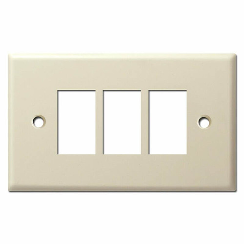 New Style Vintage Replacement 3 GE Low Voltage Switch Plate - Ivory