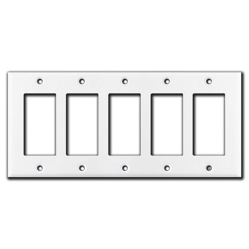 5 Decora Rocker Switch Plate - White