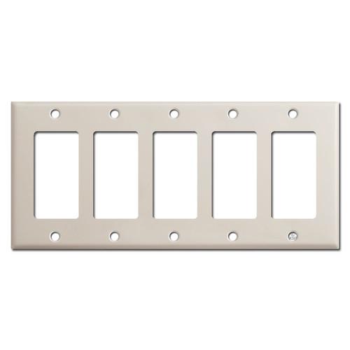 5 Rocker Switch Plate - Light Almond