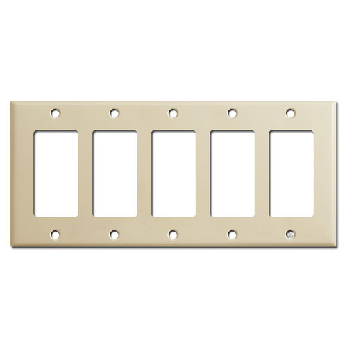 5 Decora Rocker Light Switch Covers - Ivory