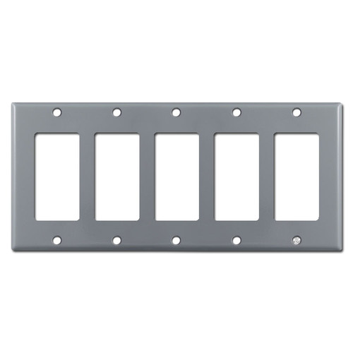 5 Decora Rocker Switch Wall Plate Cover - Gray