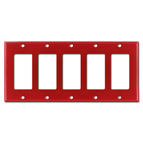 5 Decora Rocker GFI Switch Plates - Red