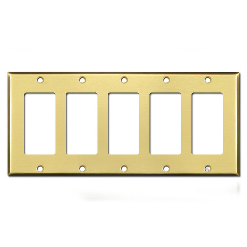 5 Decora Switch Plate - Satin Brass