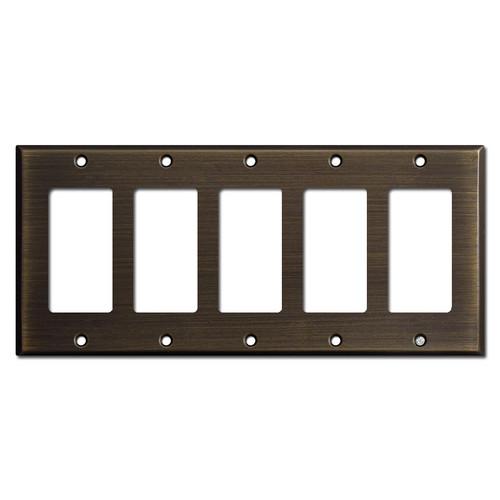 5 Decora GFCI Rocker Switch Plates - Oil Rubbed Bronze