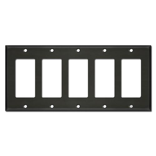 5 Decora Rocker GFI Outlet Cover Plates - Dark Bronze
