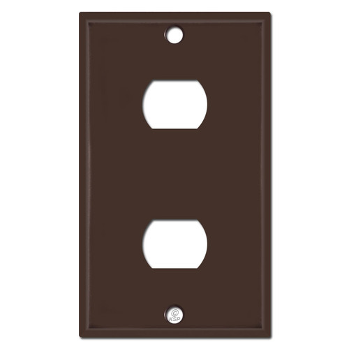 2 Despard Switch Single Gang Wall Plates - Brown