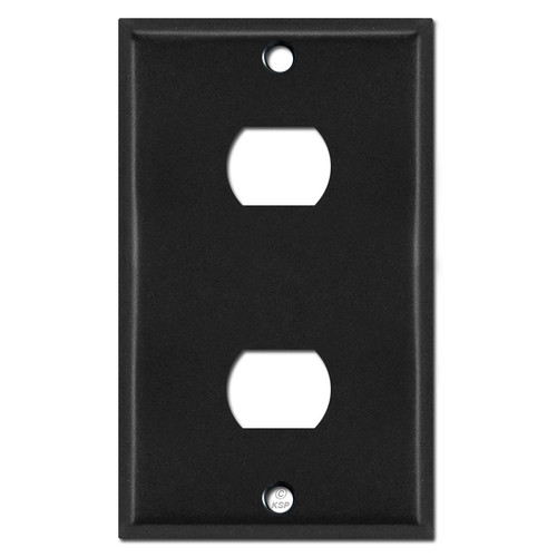Two Hole Despard Switch Plates - Black