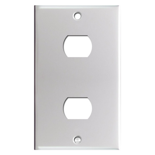 2 Despard Switch Cover - Brushed Aluminum
