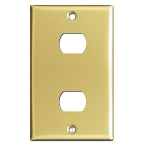Two Hole Despard Switch Plate Cover - Polished Brass