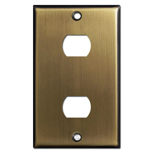 2 Despard Light Switch Plate - Antique Brass