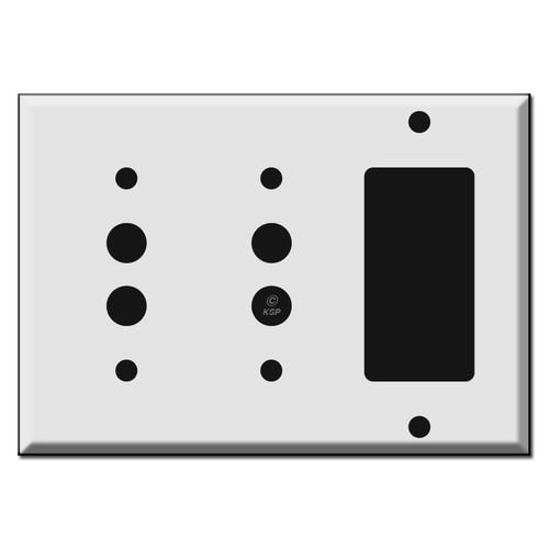 Combo Two Push Button and GFCI Decora Rocker Wall Switch Plates