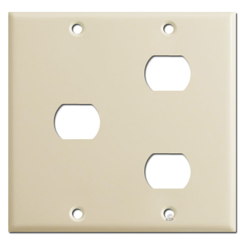Combo 1 & 2 Hole Two-Gang Despard Switch Wallplates - Ivory