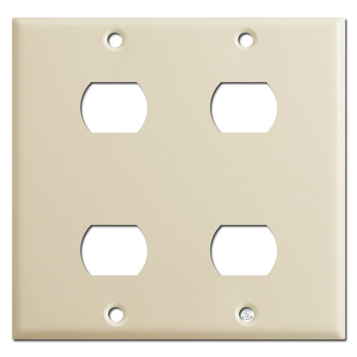 2-Gang Dual Despard Switch Plate for 4 Stacked Devices - Ivory