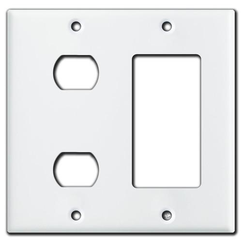 2 Despard Device & 1 GFCI Decora Switch Wall Plate - White