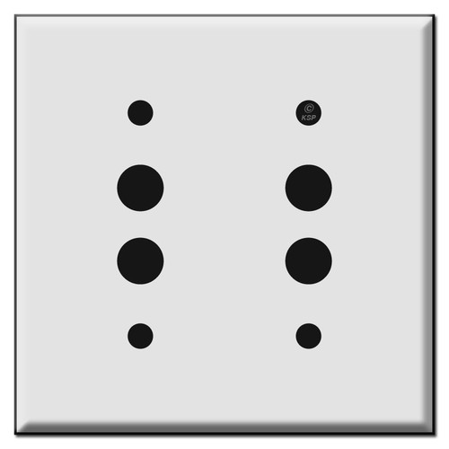 Double Pushbutton Switch Plates