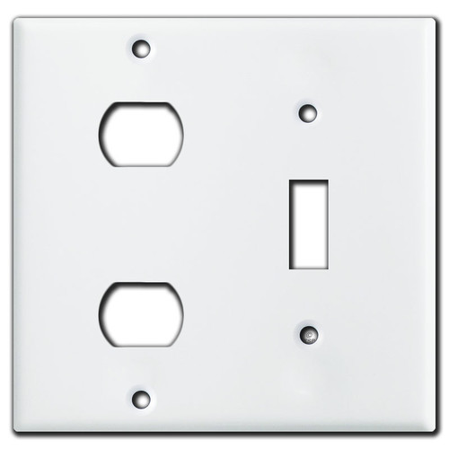 1 Toggle & 2 Opening Despard Switch Wall Plate - White