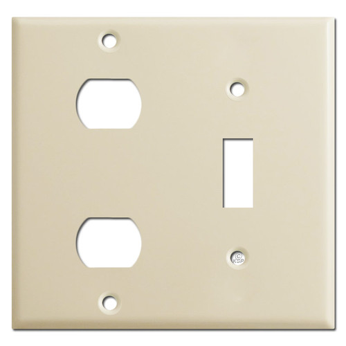 Combo 1 Toggle & 2 Despard Switch Plate Cover - Ivory