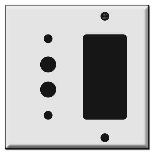 Combo Push Button and GFCI Decora Switch Wall Plates