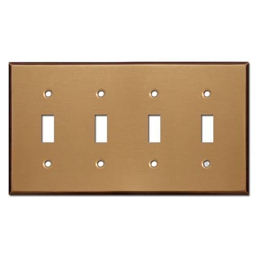 4 Toggle Wall Plate - Satin Bronze