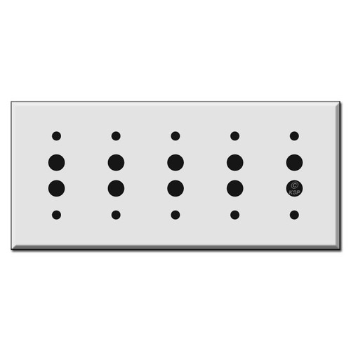 Five Push Button Wall Switch Plate Covers