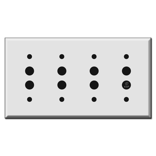 Four Push Button Switch Plates