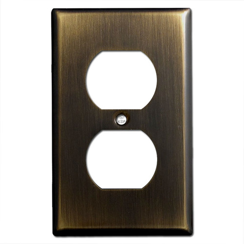 1 Duplex Outlet Electrical Wall Plate Covers - Oil Rubbed Bronze