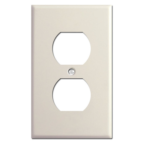 1 Duplex Receptacle Cover - Light Almond
