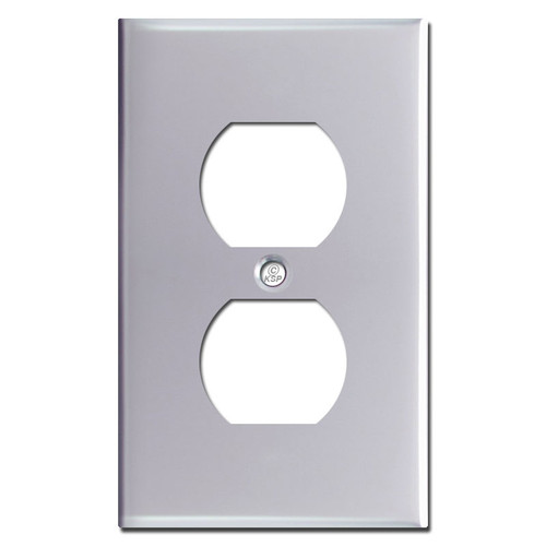 Duplex Outlet Cover Plate - Polished Chrome