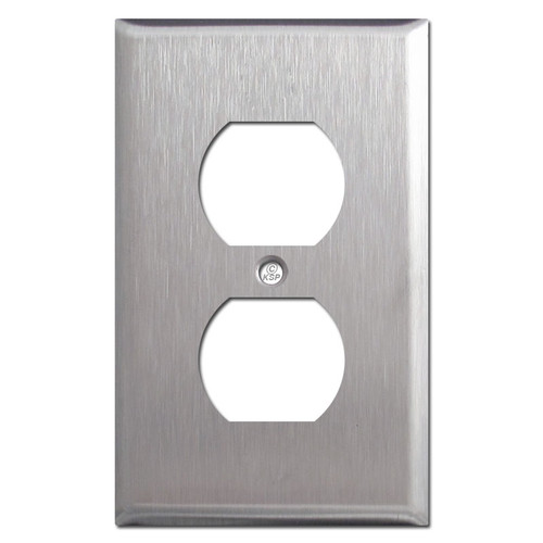 Duplex Outlet Wall Plate - Satin Stainless Steel