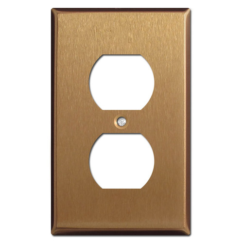 Duplex Receptacle Wallplates - Satin Bronze