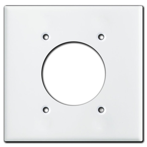 30 or 50 Amp 2.125'' Range or Dryer Receptacle Cover Plate - White