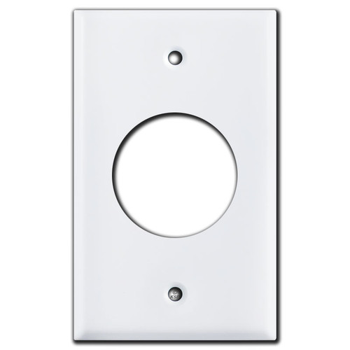 3 & 4 Wire Power Outlet Wall Plate, 1.73'' 30A TL Receptacles - White
