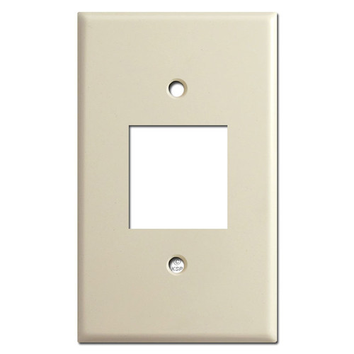 Old Type Leviton Centura 1 Square Outlet Plate Covers - Ivory