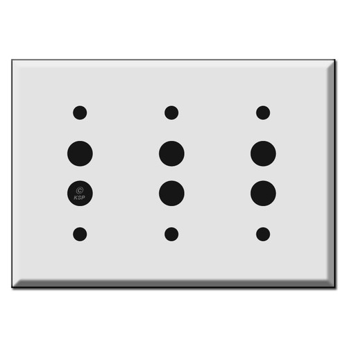 3 Push Button Switch Plates