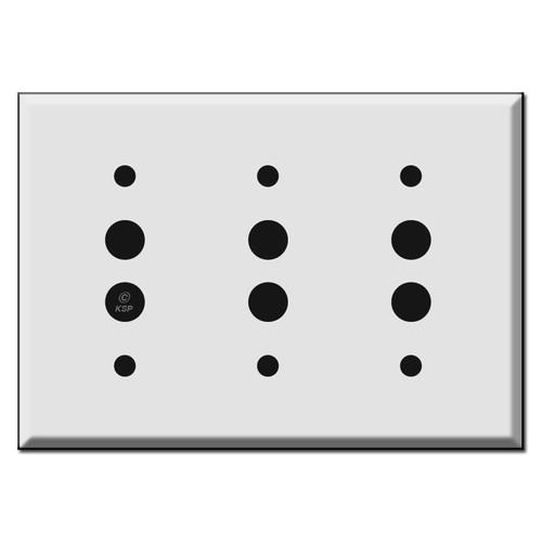 3 Push Button Switch Plates